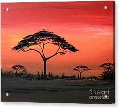 Study Of Sunset 6 Acrylic Print by Abu Artist