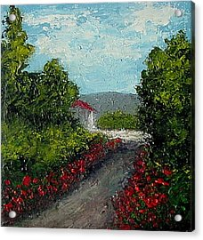Acrylic Print featuring the painting Study Provence Roses by Fred Wilson