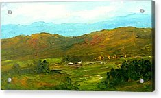 Acrylic Print featuring the painting Study Ranch Land by Fred Wilson