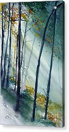 Acrylic Print featuring the painting Study The Trees by Allison Ashton