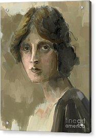 Study - Woman Acrylic Print by Carrie Joy Byrnes