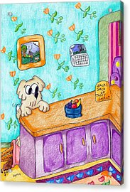 Stuff The Stinker And The Bag Of Cookies Acrylic Print by James Griffin