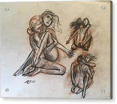 Stufy For Sculpture Acrylic Print by Alejandro Lopez-Tasso