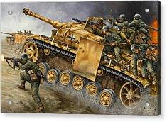 Stug G Platoon Tank Gbx25 - Flames Of War-236 Acrylic Print