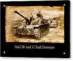 Acrylic Print featuring the digital art Stug IIi Ausf G Tank Destroyer by John Wills