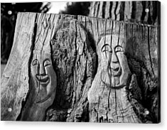 Stump Faces 2 Acrylic Print