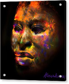 Stunning African Mask  Acrylic Print by Alexandra Jordankova