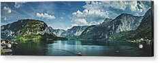 Stunning Lake Hallstatt Panorama Acrylic Print