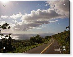Stunning Sunset On Kula Road Maui Hawaii Acrylic Print by Denis Dore