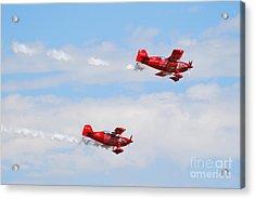 Stunt Pilots Acrylic Print by Larry Keahey