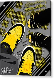 Stuntin Bumble Bees Acrylic Print by Devin Green