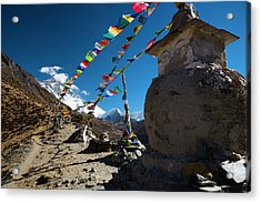 Acrylic Print featuring the photograph Stupa  by Owen Weber