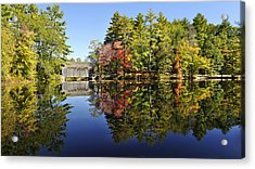 Sturbridge Massachusetts Fall Foliage Acrylic Print by Luke Moore