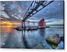 Sturgeon Bay Lighthouse Sunrise Acrylic Print