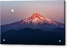 Sturgeon Moon Over Mount Hood Acrylic Print