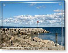 Sturgeon Point Marina On Lake Erie Acrylic Print by Rose Santuci-Sofranko