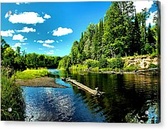 Sturgeon River In Summer Acrylic Print by Matthew Winn