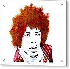 Stylized Hendrix Acrylic Print