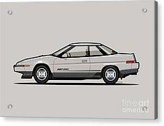 Subaru Alcyone Xt-turbo Vortex Silver Acrylic Print by Monkey Crisis On Mars