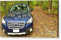 Acrylic Print featuring the photograph Subaru Touring Off The Beaten Path by Ricky L Jones