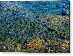 Submerged Rocks At Lake Superior Acrylic Print