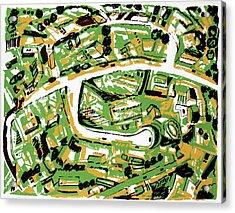 Suburb With Roads Acrylic Print