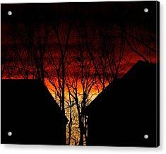 Suburban Sunsert Acrylic Print