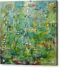 Suburbia Acrylic Print by Chaline Ouellet