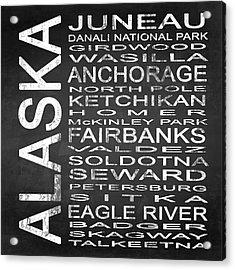 Subway Alaska State Square Acrylic Print