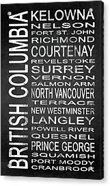 Subway British Columbia 2 Acrylic Print by Melissa Smith