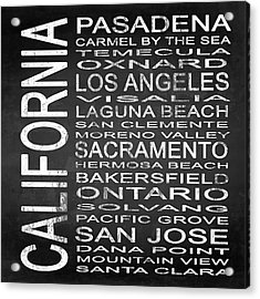 Subway California State 2 Square Acrylic Print by Melissa Smith