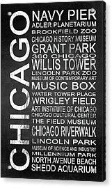 Subway Chicago 1 Acrylic Print by Melissa Smith