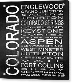 Subway Colorado State 2 Square Acrylic Print