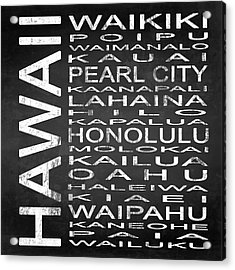Subway Hawaii State Square Acrylic Print by Melissa Smith