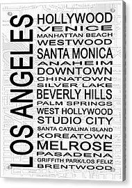 Subway Los Angeles 1 White Acrylic Print
