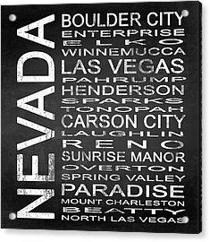 Subway Nevada State Square Acrylic Print