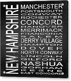 Subway New Hampshire State Square Acrylic Print by Melissa Smith