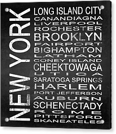 Subway New York State 3 Square Acrylic Print by Melissa Smith