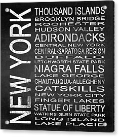Subway New York State 4 Square Acrylic Print by Melissa Smith