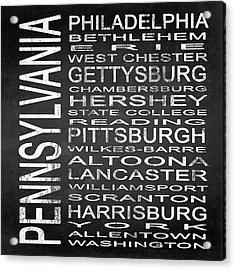 Subway Pennsylvania State Square Acrylic Print by Melissa Smith