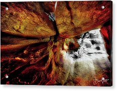 Acrylic Print featuring the photograph Subway Rock Tunnel by David A Lane