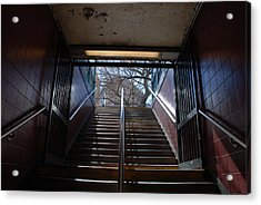 Acrylic Print featuring the photograph Subway Stairs To Freedom by Rob Hans