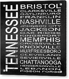 Subway Tennessee State Square Acrylic Print by Melissa Smith