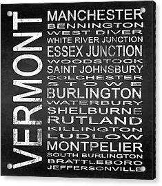 Subway Vermont State Square Acrylic Print