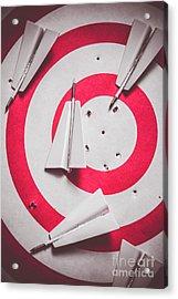 Success And Failures. Business Target Acrylic Print