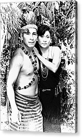 Acrylic Print featuring the photograph Sucua Shaman And Spouse by Al Bourassa