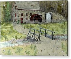 Acrylic Print featuring the painting Sudbury Gristmill by Lynn Babineau