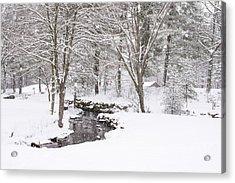 Sudbury Ma Winter Stream Acrylic Print