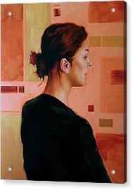 Sue Acrylic Print by Stuart Gilbert