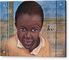 Suffer The Children Acrylic Print by Dee Youmans-Miller
